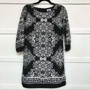 Black & White Floral Shift Dress